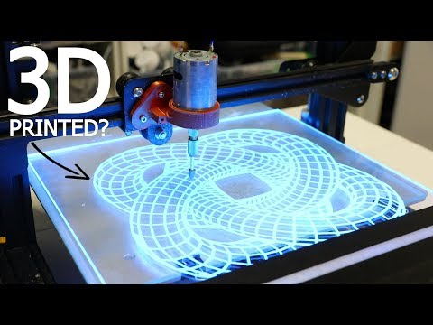 3D Printer CNC Makes 3D Illusion Pattern