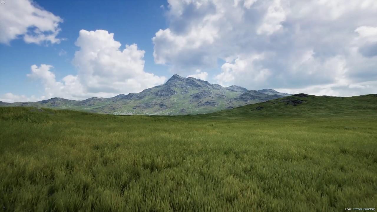 ue4 grass hills landscape