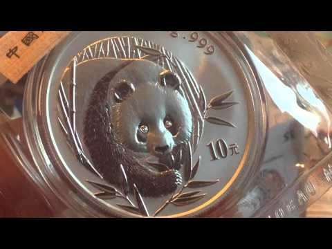 Lets take a look at the rare 2003 frosted bamboo china silver panda