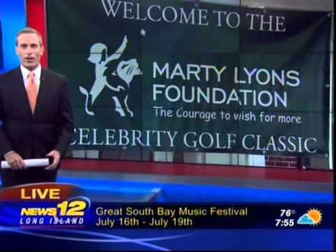 News 12  Long Island Coverage of 30th Marty Lyons Celebrity Golf Classic 2