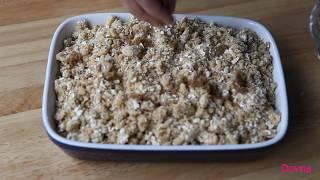 английский яблочный пирог  APPLE CRUMBLE  яблоки в крошке