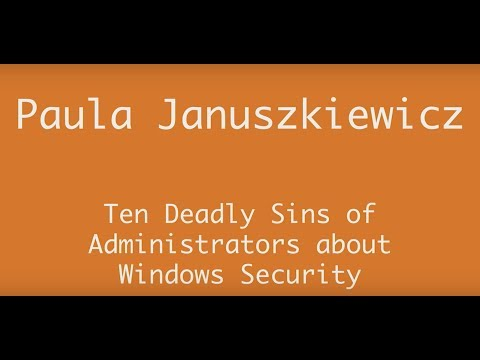 AppManagEvent 2017 session: Ten Deadly Sins of Administrators about Windows Security