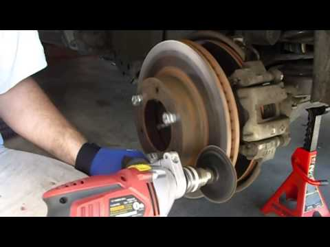 DIY: Resurfacing brake rotors Toyota Sequoia