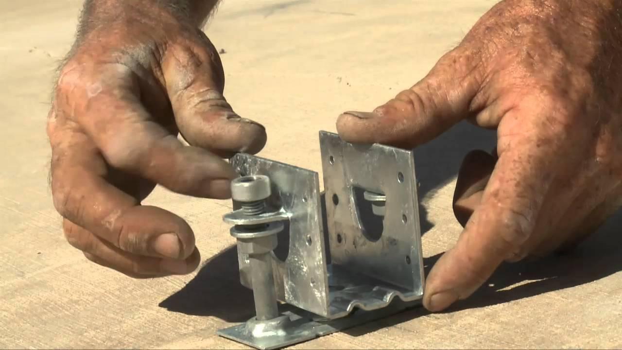how to build a deck over concrete slab