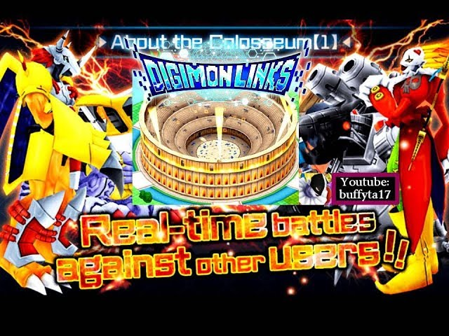Digimon Links - Coliseo y gatcha de medallas