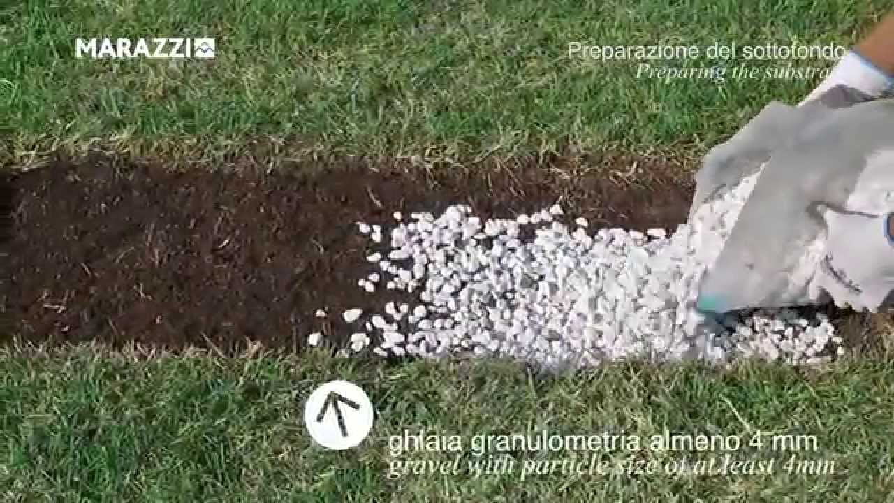 Posa Pavimento A Secco Giardino dry laying on grass, stoneware 20mm