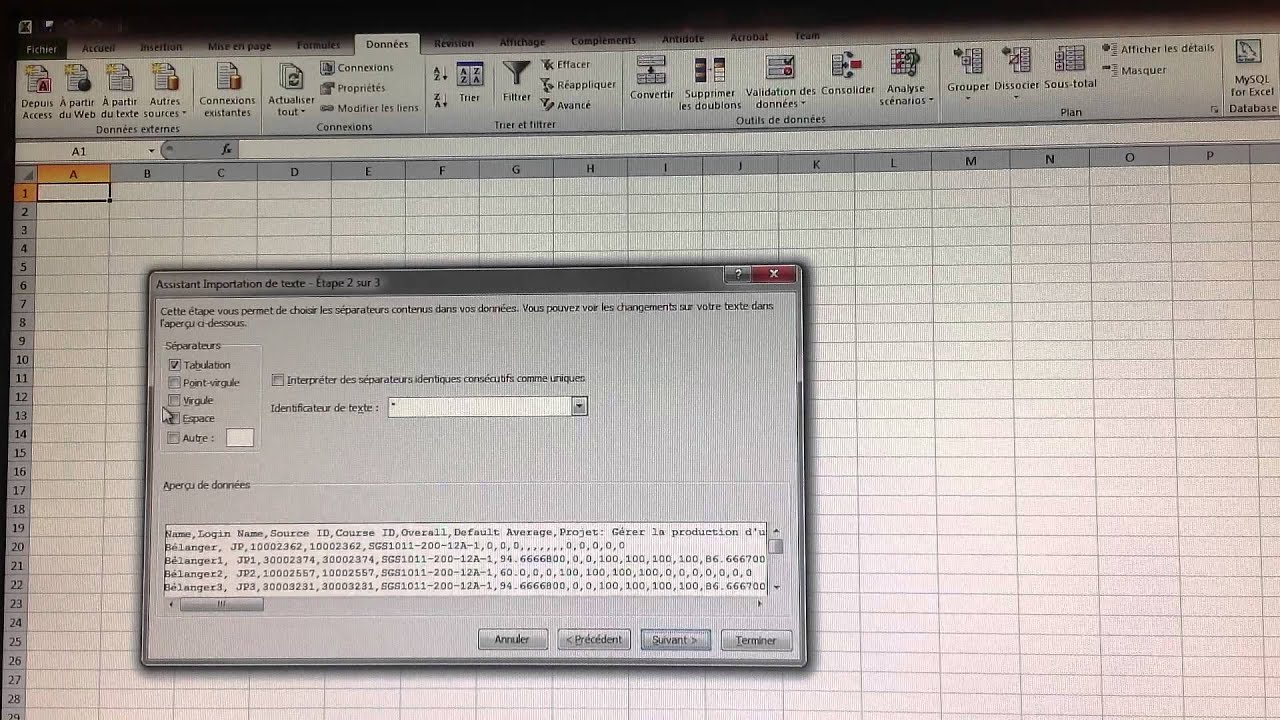 comment ouvrir un fichier csv avec microsoft exel