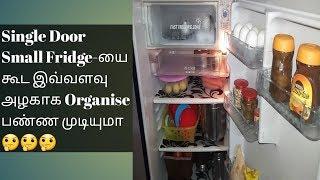 How to Organize a Single Door Small Fridge/Fridge organisation Ideas in Tamil