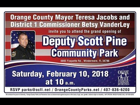 Deputy Scott Pine Community Park Grand Opening