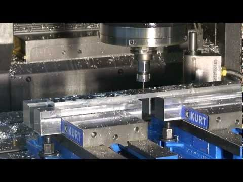 Mazak VTC-300C CNC Vertical Machining Center produces DB-4004 front panels - Part 1 Travel Video