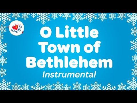O Little Town of Bethlehem Christmas Carol Instrumental Music  With Karaoke Lyrics