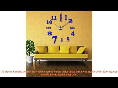 3d clocks horloge watch sale new diy acrylic mirror wall sticker wall
