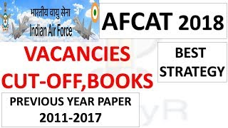 Indian Airforce(AFCAT-2) Exam 2018 Vacancies| CUT OFF | STRATEGY| PREVIOUS YEAR PAPER