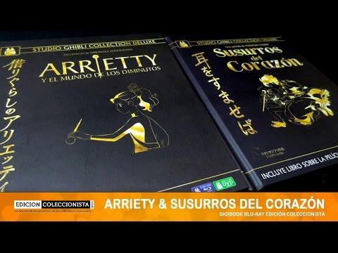 Arrietty y Susurros del Corazón Digibook Blu-ray Unboxing
