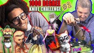 GLOWING 1000 DEGREE KNIFE PRANK DEATH to TOYS FANTASTIC GYMNASTICS!!