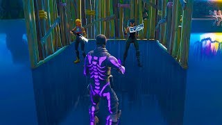 Kids make fun of me for not having Skin and I take out the Purple Skull Trooper - Fortnite