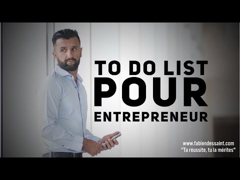 ENTREPRENEUR - TO DO LIST