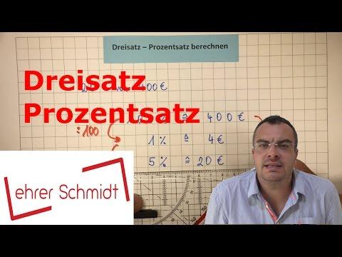 Dreisatz - Prozentsatz berechnen | Prozentrechnung | Mathematik | Lehrerschmidt - einfach erklärt!