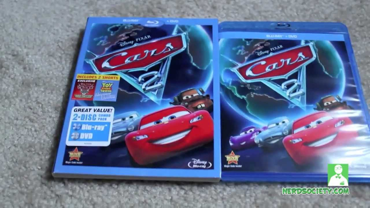 unboxing cars 2 blu ray dvd combo youtube. Black Bedroom Furniture Sets. Home Design Ideas