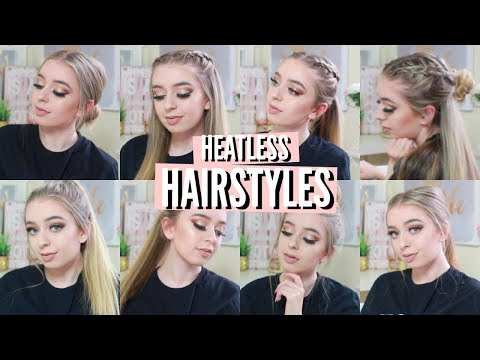 EASY & QUICK HEATLESS HAIRSTYLES