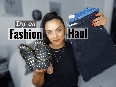 Fashion Try On Haul | Nordstrom, Alexander Wang, TopShop, Levis & More