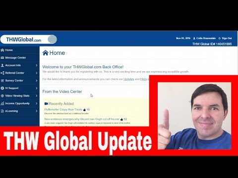 THW Global Update News and New Multi Matrix Bonus Compensation explained at THW Global on 1 Nov