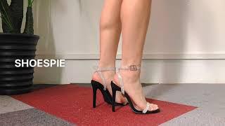समर फैशन शूस्पी सेक्सी ओपन टो लाइन-स्टाइल बकल एंकल स्ट्रैप सैंडल screenshot 1