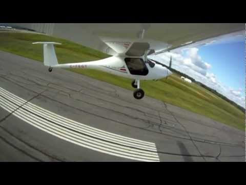 high speed Flyby Pipistrel Virus SW 100 Taildragger