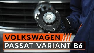 Montáž predné a zadné Horné Uloženie Tlmiča VW PASSAT Variant (3C5): video zadarmo