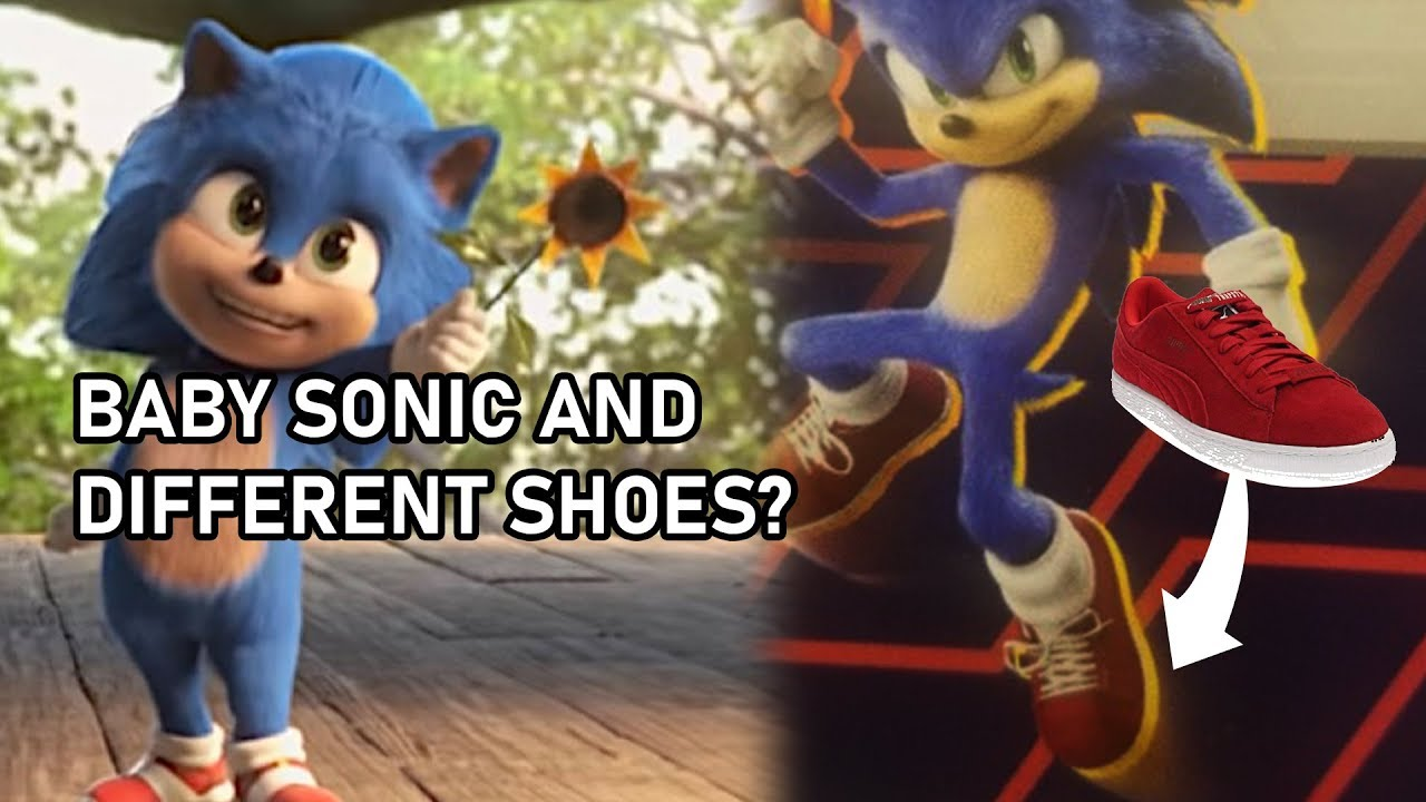 Baby Sonic And Sonic S Different Shoes Sonic Movie Youtube