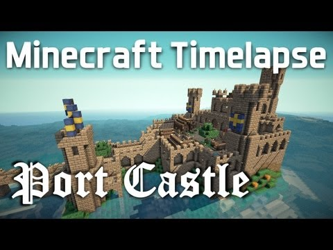 Minecraft Timelapse - Medieval Port Castle