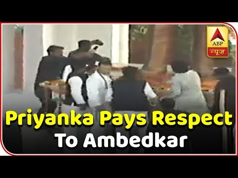 Rahul And Priyanka Offer Garland At Ambedkar's Statue In Lucknow | ABP News