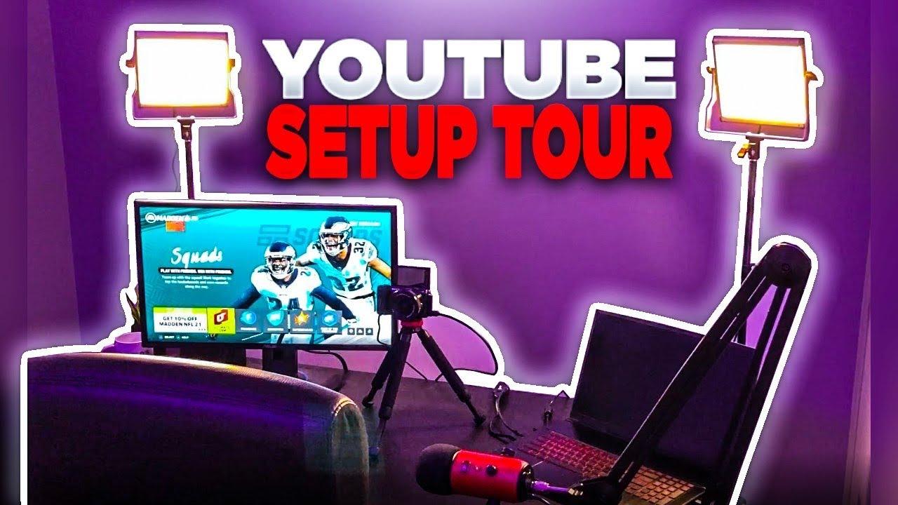 FULL YOUTUBE SETUP TOUR!! | 2020 GAMING SETUP!!