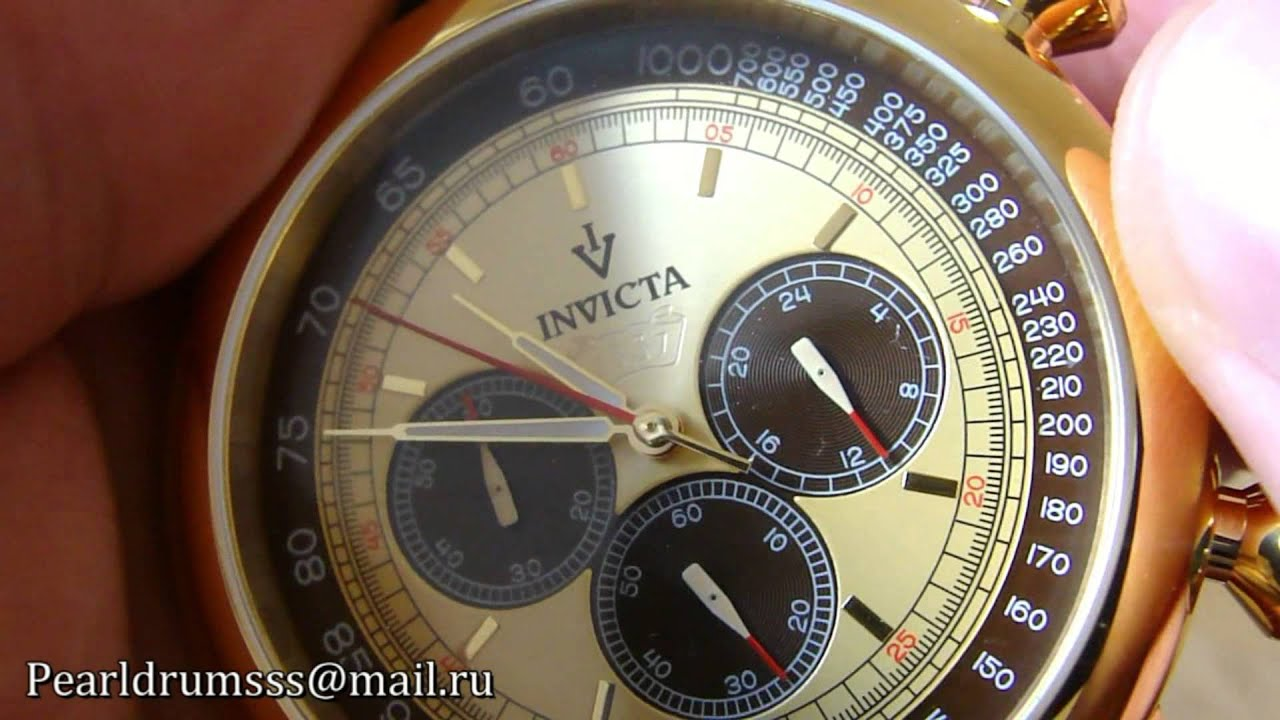 Invicta 13058 Vintage Japan Quartz Chronograph Gold