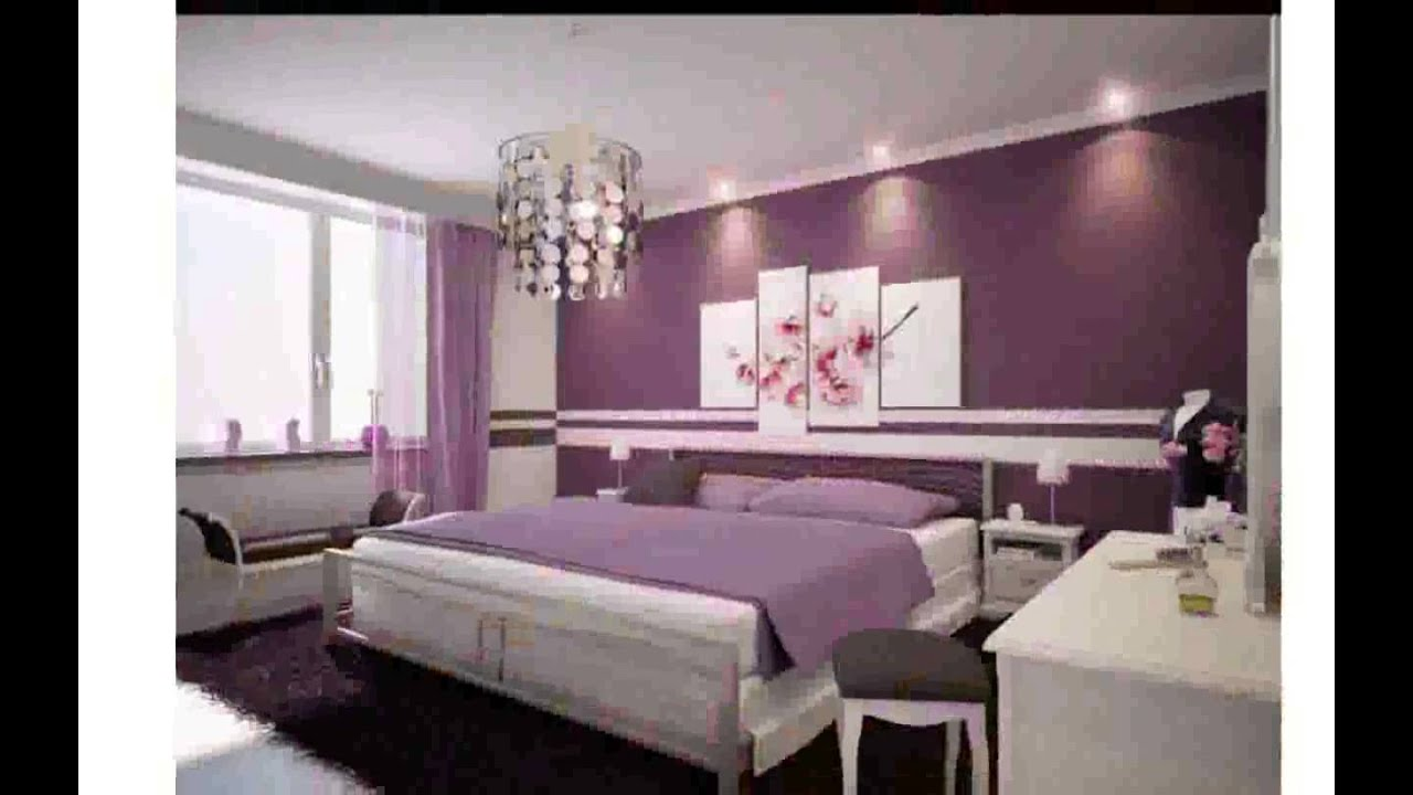 silver and purple bedroom