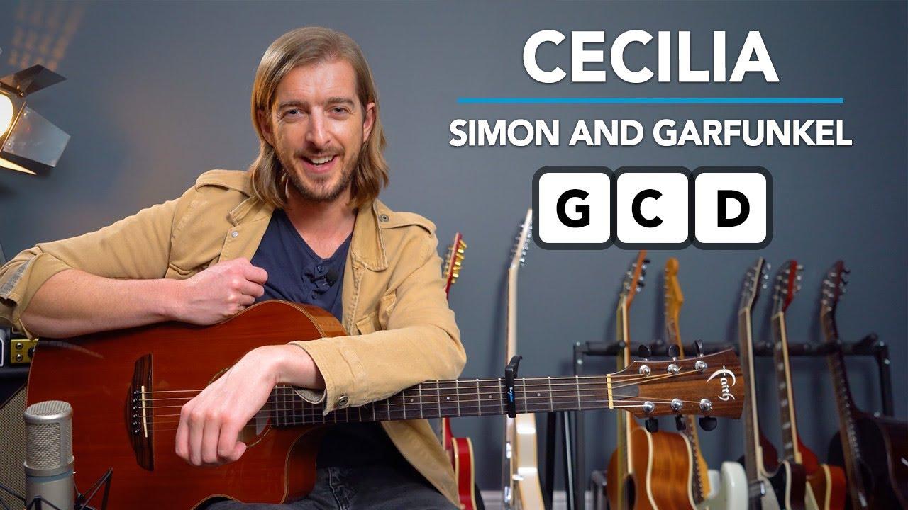Cecilia - 3 Chord Song Tutorial for Beginners - Simon & Garfunkel