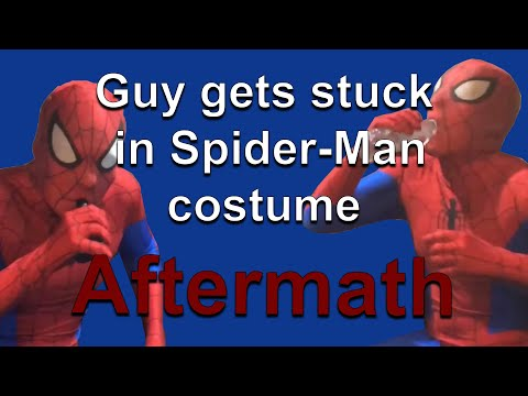 (Aftermath) Guy gets stuck in Spider-Man costume