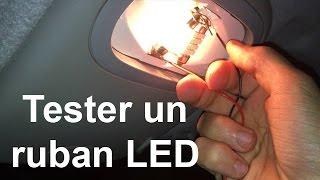 Tester un ruban LED avant de l'installer dans sa voiture