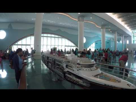 Inside the Disney Cruise Terminal at Port Canaveral Florida