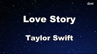 Download Love Story - Taylor Swift Karaoke【With Guide Melody】