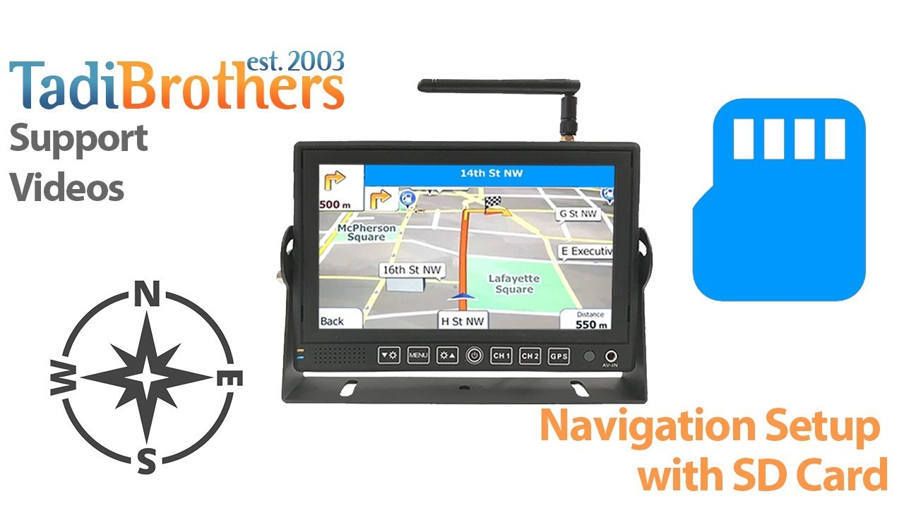 Navigation Sd Card Setup For A Tadibrothers Gps Youtube