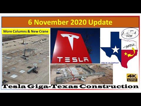Tesla Gigafactory Texas 6 November 2020 Cyber Truck & Model Y Factory Construction Update (08:30AM)