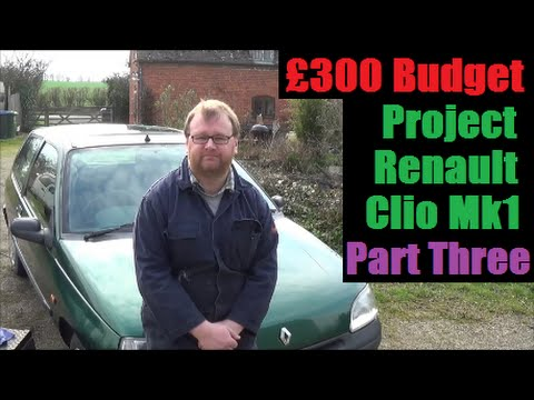 Part 3/4 - Budget Renault Clio Project - Sunroof Leak Sealed, Immobiliser Fault, Rainwater Leak