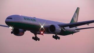 Sunset Plane Spotting at London Heathrow Airport, RW09L Arrivals | 10-04-19