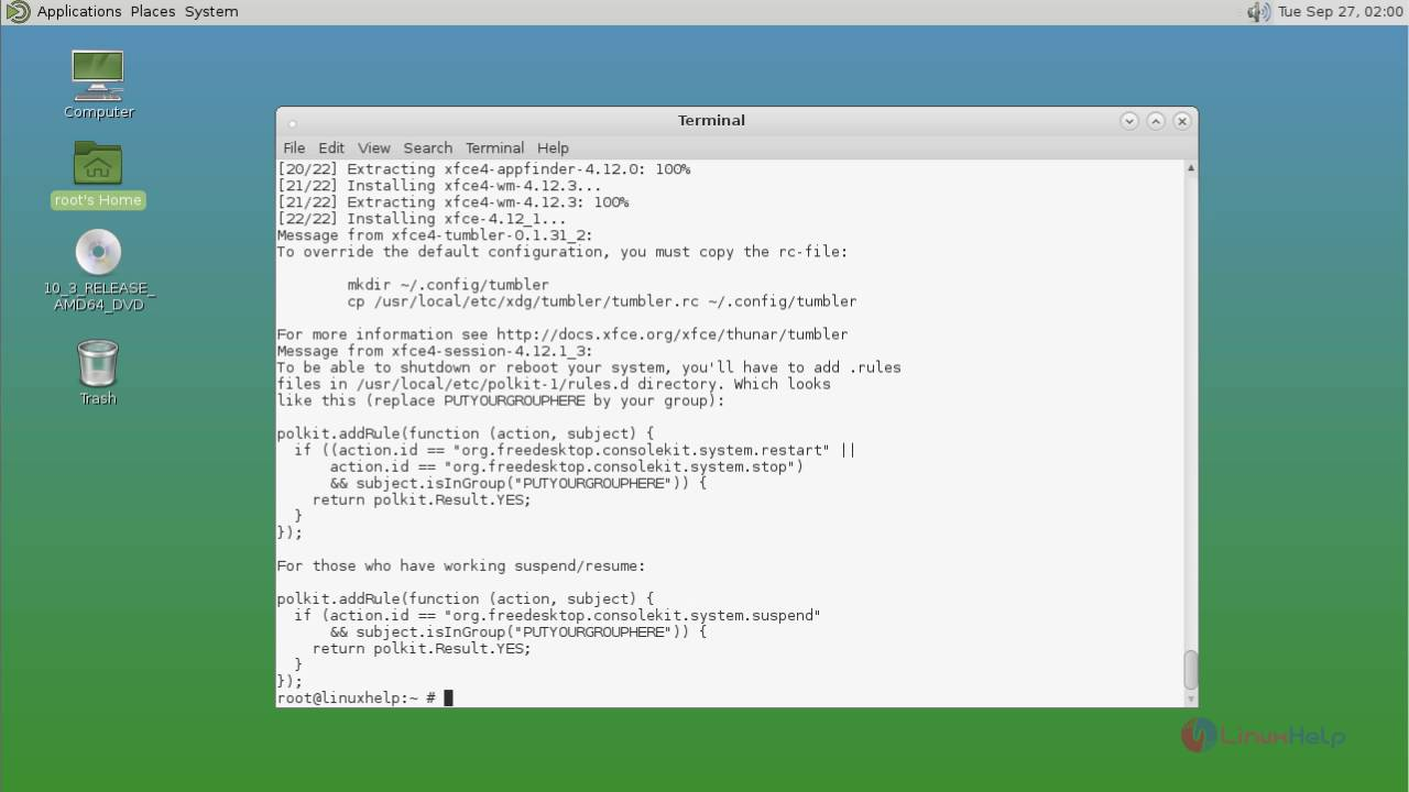 How to install XFCE desktop in FreeBSD | LinuxHelp Tutorials