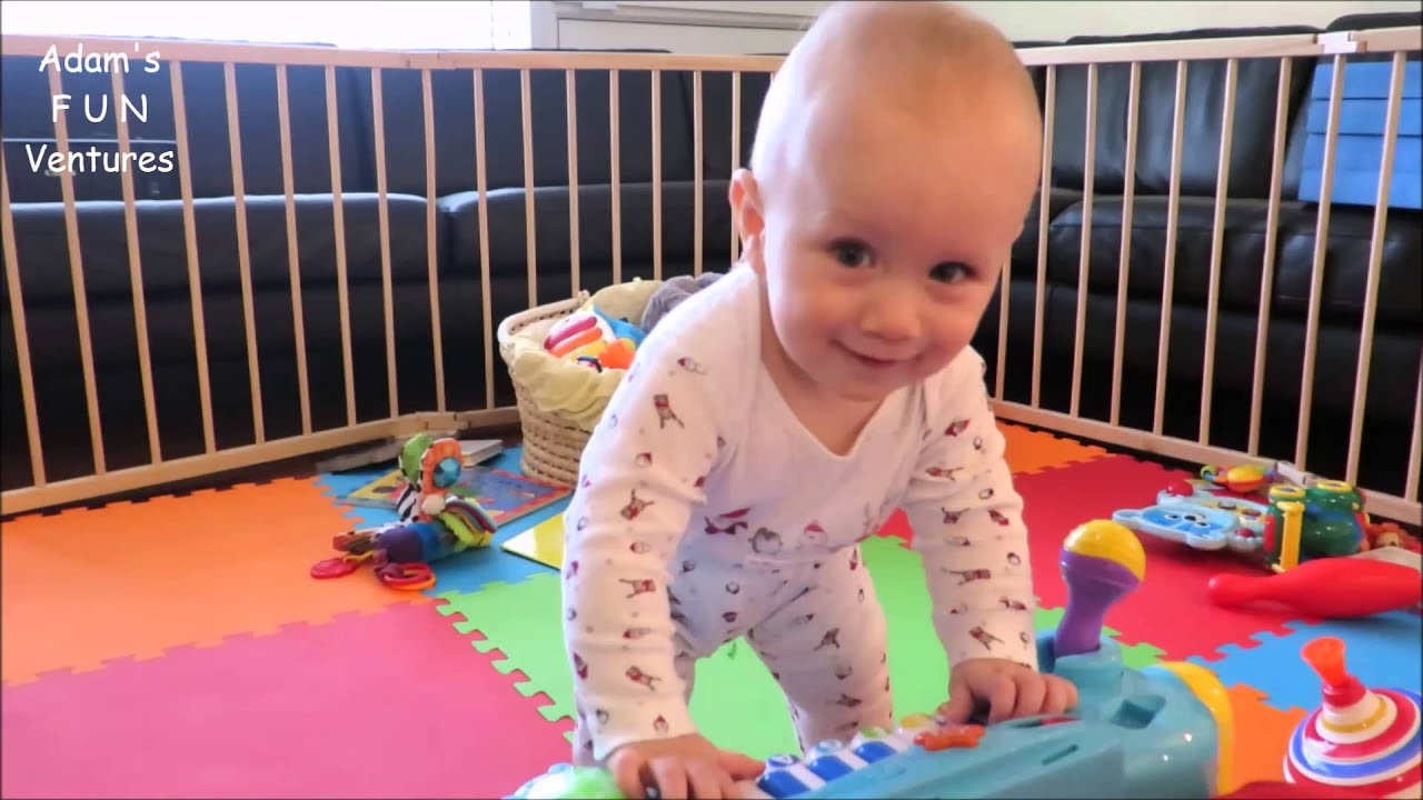 Music For Babies 10 months Old Playing Piano Toy