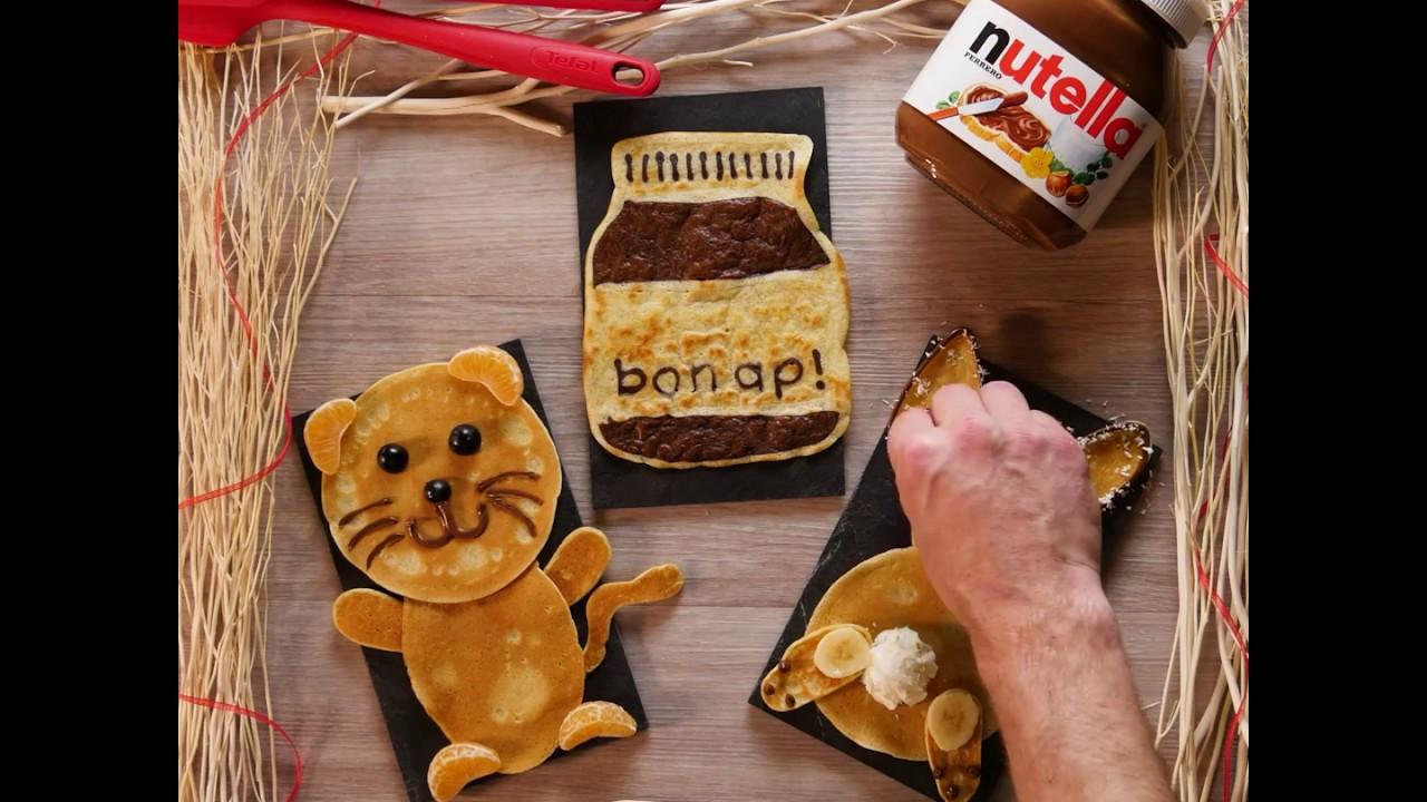 Tefal creative pancake avec nutella youtube - Nutella tefal com jeux ...