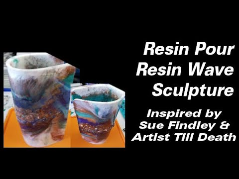 My First Resin Wave Sculpture | Resin Pouring | Resin Art | Resin Tutorial