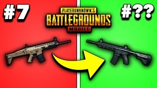 EVERY GUN IN PUBG MOBILE RANKED FROM WORST TO BEST 2019! (Rifles)