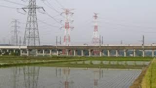 栃木県北部を走行する東北新幹線 2014.05.25 17:15